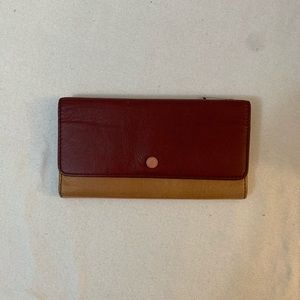 Fossil Multiclored Leather Trifold Wallet Clutch
